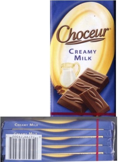 Choceur Chocolate Tablets - Creamy Milk Bars 1.4oz/40g (5 tablet